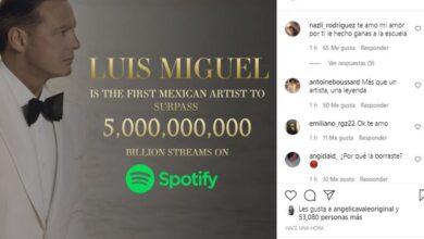 Photo of Un logro más para Luis Miguel: es el primer mexicano en romper el récord de descargas de Spotify.