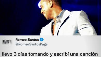 Photo of Romeo Santos «llevo 3 días tomando y escribí una canción borracho que no recuerdo»