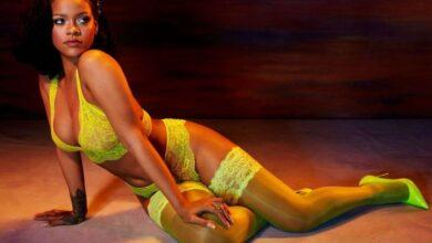 Photo of Rihanna enloquece las redes posando en mini vestido sin sostén